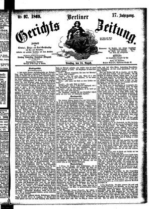 Berliner Gerichts-Zeitung vom 24.08.1869
