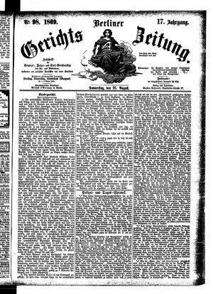 Berliner Gerichts-Zeitung vom 26.08.1869