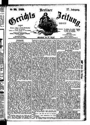 Berliner Gerichts-Zeitung vom 28.08.1869
