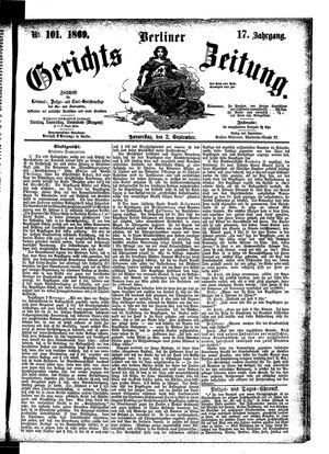 Berliner Gerichts-Zeitung on Sep 2, 1869