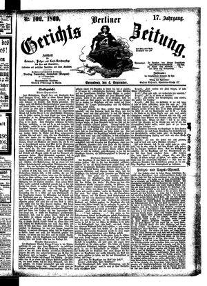 Berliner Gerichts-Zeitung on Sep 4, 1869