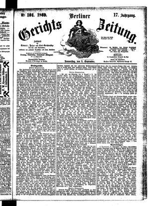 Berliner Gerichts-Zeitung vom 09.09.1869