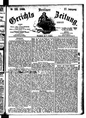 Berliner Gerichts-Zeitung vom 09.10.1869