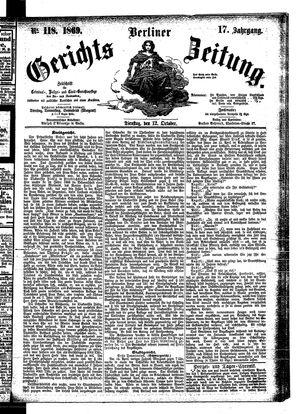 Berliner Gerichts-Zeitung vom 12.10.1869
