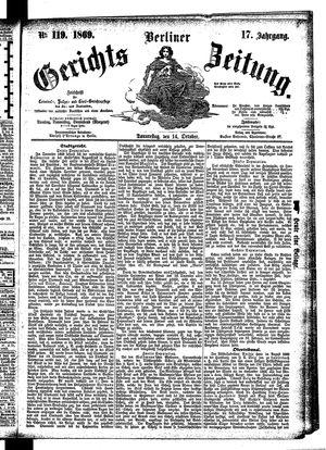 Berliner Gerichts-Zeitung vom 14.10.1869
