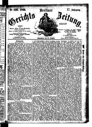 Berliner Gerichts-Zeitung vom 16.10.1869