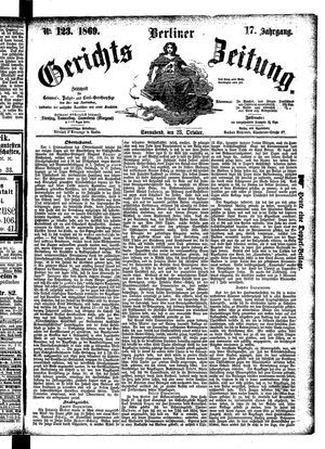Berliner Gerichts-Zeitung on Oct 23, 1869