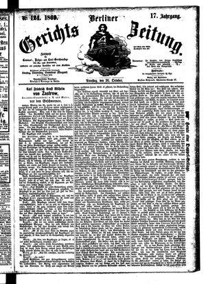 Berliner Gerichts-Zeitung vom 26.10.1869