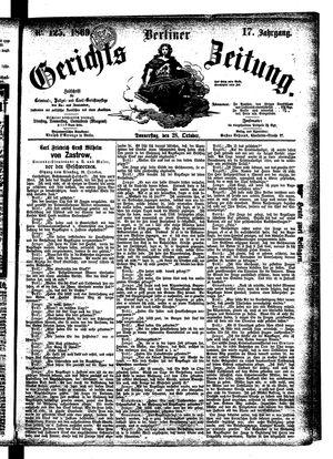 Berliner Gerichts-Zeitung vom 28.10.1869