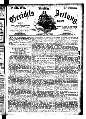 Berliner Gerichts-Zeitung vom 30.10.1869