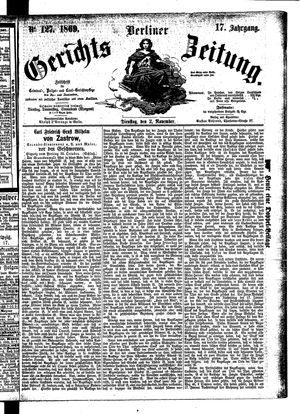 Berliner Gerichts-Zeitung vom 02.11.1869