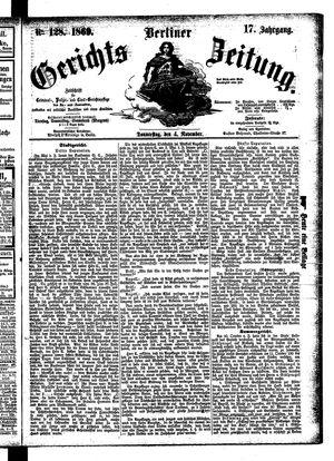 Berliner Gerichts-Zeitung vom 04.11.1869