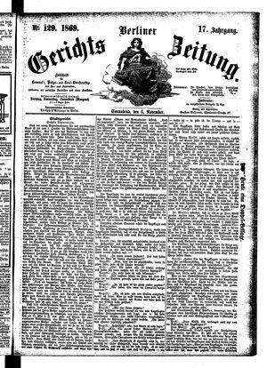 Berliner Gerichts-Zeitung vom 06.11.1869