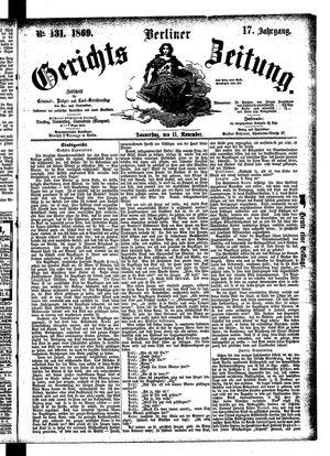 Berliner Gerichts-Zeitung vom 11.11.1869
