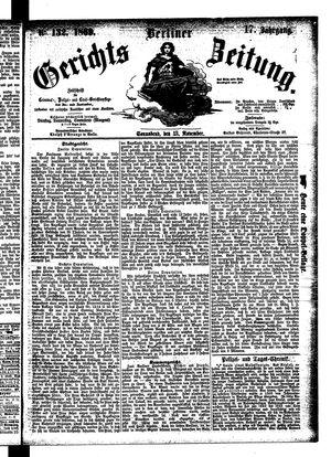 Berliner Gerichts-Zeitung vom 13.11.1869