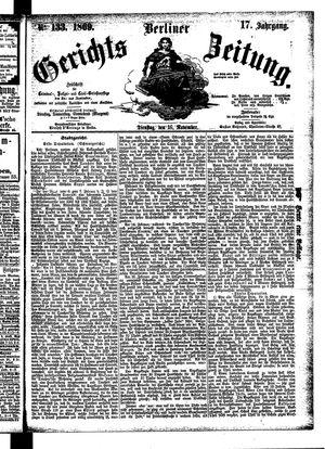 Berliner Gerichts-Zeitung vom 16.11.1869