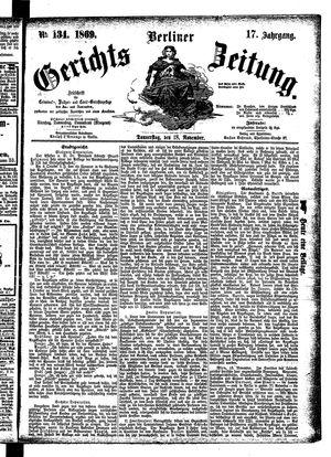 Berliner Gerichts-Zeitung vom 18.11.1869