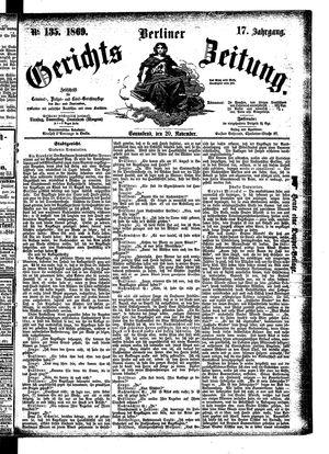 Berliner Gerichts-Zeitung on Nov 20, 1869