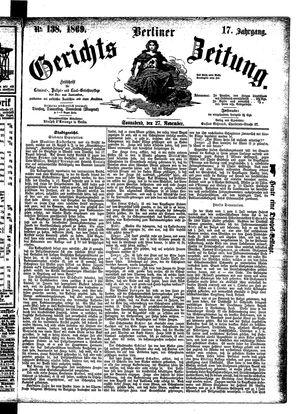 Berliner Gerichts-Zeitung on Nov 27, 1869
