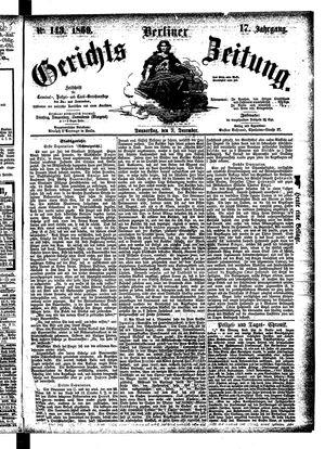 Berliner Gerichts-Zeitung vom 09.12.1869