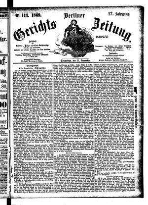 Berliner Gerichts-Zeitung on Dec 11, 1869