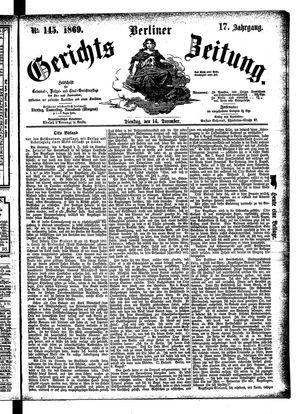 Berliner Gerichts-Zeitung on Dec 14, 1869