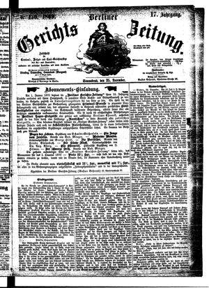 Berliner Gerichts-Zeitung vom 25.12.1869