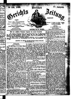 Berliner Gerichts-Zeitung on Dec 30, 1869