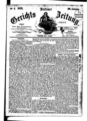Berliner Gerichts-Zeitung on Jan 4, 1872