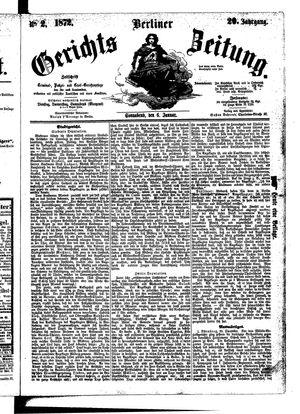Berliner Gerichts-Zeitung vom 06.01.1872