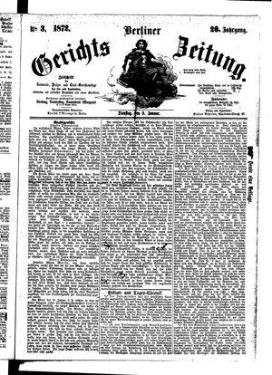 Berliner Gerichts-Zeitung vom 09.01.1872