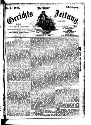 Berliner Gerichts-Zeitung vom 11.01.1872
