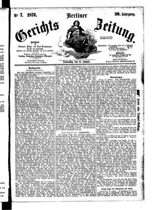 Berliner Gerichts-Zeitung on Jan 18, 1872