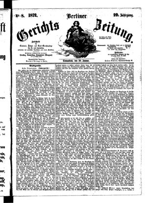 Berliner Gerichts-Zeitung vom 20.01.1872