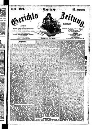 Berliner Gerichts-Zeitung vom 23.01.1872