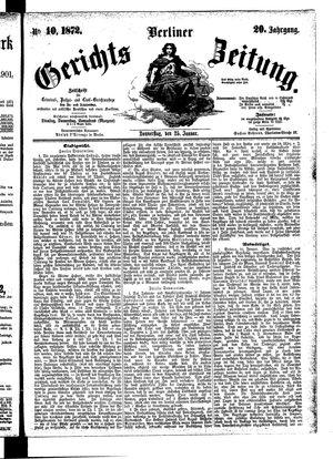 Berliner Gerichts-Zeitung vom 25.01.1872