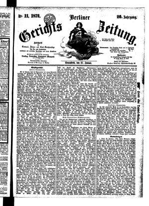 Berliner Gerichts-Zeitung vom 27.01.1872