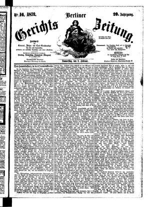 Berliner Gerichts-Zeitung vom 08.02.1872