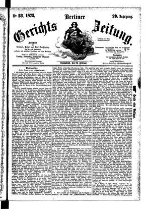 Berliner Gerichts-Zeitung vom 24.02.1872