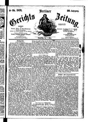 Berliner Gerichts-Zeitung vom 07.03.1872