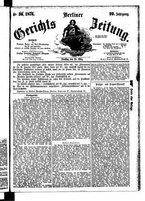 Berliner Gerichts-Zeitung vom 26.03.1872