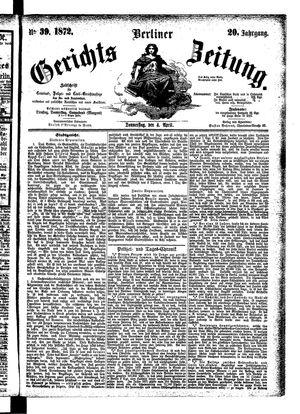 Berliner Gerichts-Zeitung vom 04.04.1872