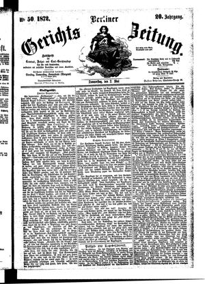 Berliner Gerichts-Zeitung vom 02.05.1872