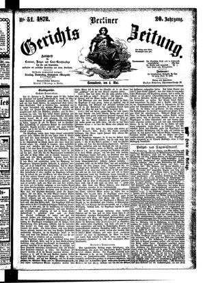 Berliner Gerichts-Zeitung vom 04.05.1872