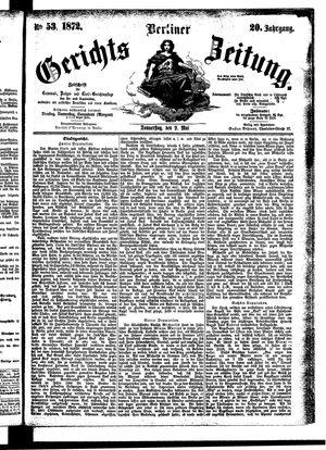Berliner Gerichts-Zeitung vom 09.05.1872