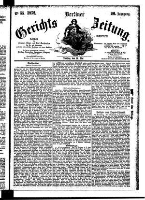 Berliner Gerichts-Zeitung vom 14.05.1872