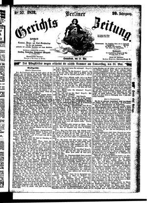 Berliner Gerichts-Zeitung vom 18.05.1872