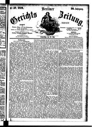 Berliner Gerichts-Zeitung vom 23.05.1872