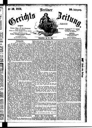 Berliner Gerichts-Zeitung vom 25.05.1872