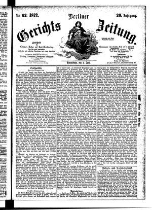Berliner Gerichts-Zeitung vom 01.06.1872